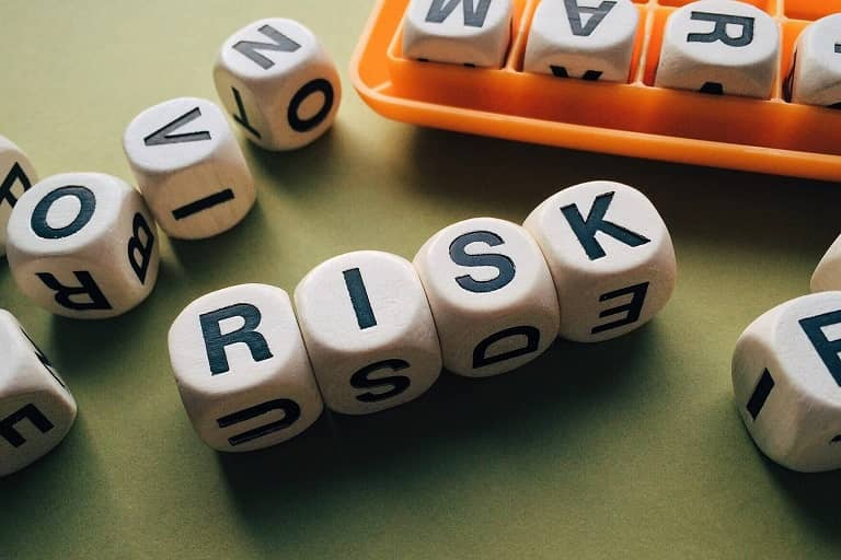 Risk letters dice